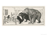Goldilocks is Found in Baby Bear's Bed by the Three Bears Giclee Print by Henry Justice Ford