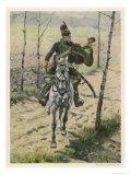 Poland, a Hussar Giclee Print by W. Kossak
