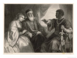 Othello Impresses Desdemona and Her Father with His Eventful Life-Story Giclee Print by Heinrich Hofmann