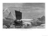 Eric the Red Sails to Greenland 983 Giclee Print by Carl Rasmussen