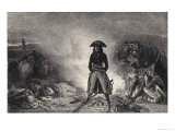 Italian Campaign Napoleon at the Campfire on the Eve of Battle Giclee Print by Raffet 