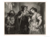 The Merchant of Venice, Shylock and His Daughter Giclee Print by Heinrich Hofmann