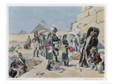 Egyptian Campaign Napoleon with the Savants Contemplates the Antiquities of Egypt Giclee Print by Maurice Orange