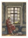 Giovanni Giacomo Casanova Italian Adventurer Reading a Letter at Venice Giclee Print by Auguste Leroux
