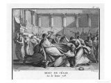 Julius Caesar is Assassinated in the Senate by Brutus and His Companions Giclee Print by Augustyn Mirys