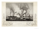 War Junks Destroyed in Anson&#39;s Bay Giclee Print by G. Greatbach