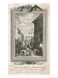 Cypriania Bustia a Protestant Piedmontese is Thrown at Dogs after Being Starved to Death in Prison Giclee Print by  Dodd