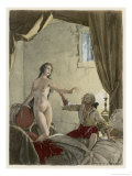 Giovanni Giacomo Casanova Italian Adventurer with His Belle Religieuse Giclee Print by Auguste Leroux