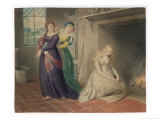 Cinderella by the Fireside is Taunted by Her Two Sisters Before Leaving for the Ball Giclee Print by Henry Richter
