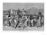 East Africa a Convoy of Slaves in the Sudan Giclee Print by Montbard