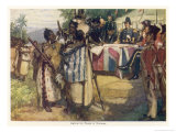 Maori Chiefs Recognise British Sovereignty by Signing the Treaty of Waitangi Giclee Print by A.d. Mccormick