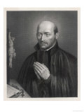 Ignatius Loyola Spanish Saint Founder of Society of Jesus (Jesuits) in an Attitude of Prayer Giclee-vedos tekijn C. Holl
