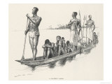 Congo Slaves in a Slaver's Canoe Giclee Print by Edward Windsor Kemble