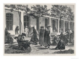 Women Mental Patients at the Hospital of Sainte-Anne Paris Giclee Print by Lancon 