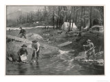 How They Get Gold in the Klondike Giclee Print by Edward Roper