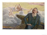 Johannes Brahms German Musician Composing His Symphony No. 1 Giclee Print by R. Ronopa