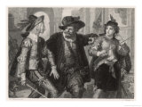 Twelth Night, Sir Toby Belch with the Reluctant Duellists Giclee Print by Heinrich Hofmann