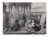 Children at the Tomb of Grace Horsley Darling Lighthouse-Keeper's Daughter Giclee Print by C.w. Nicholls