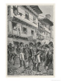The Unpopular Minister Godoy is Arrested by Fernando VII and Sent into Exile in France Giclee Print by Maurice Orange