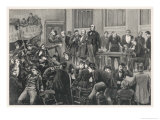 An Election Meeting, The Audience Giving the Speaker a Rough Time Giclee Print by Everard Hopkins