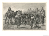 East Africa a Convoy of Captured Slaves in the Soudan Giclee Print by B. J. Schonberg