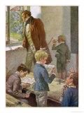 Franz Schubert Austrian Musician Working as a Schoolteacher Giclée-tryk af H. Schubert