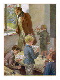 Franz Schubert Austrian Musician Working as a Schoolteacher Giclee Print by H. Schubert