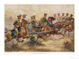 British Royal Horse Artillery in Action Giclee Print by Harry Payne