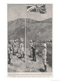 Hong Kong: Hoisting the British Flag at Taipo in the Kowloon Hinterland Giclee Print by H.m. Paget