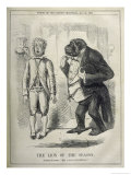 His Theory is Satirised, The Lion of the Season Giclee Print by John Leech