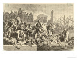 Rome is Sacked Plundered Looted by Gaiseric and His Fellow-Vandals Premium Giclee Print by H. Leutemann