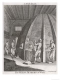 An 18th Century Glass-House, The Glass-Makers at Work Giclee Print by C. Grinion