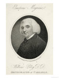 William Paley Archdeacon of Carlisle Philosopher Author of Evidences of Christianity Giclee Print by Ridley