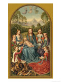 Mary with Saints Giclee Print by Hemmling