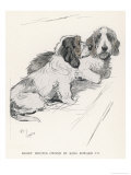 Basset Hounds Owned by King Edward VII Giclee Print by Cecil Aldin