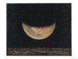 The Planet Seen from One of Its Satellites Giclee Print by Lucien Rudaux