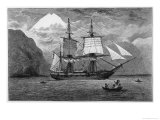 Hms &quot;Beagle&quot; the Ship in Which Charles Darwin Sailed in the Straits of Magellan Giclee Print by R.t. Pritchett