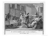Pompeius' Son Sextus Pompeius Magnus Opposes Cicero's Policies and Threatens to Kill Him Giclee Print by Augustyn Mirys