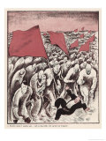 The Advance of Socialism: a Crowd Tramples a Bourgeois Giclee Print by Anton Hansen