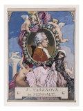 Giovanni Giacomo Casanova Chevalier de Seingalt Italian Adventurer Giclee Print by Auguste Leroux