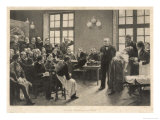 Charcot and Asylum Patient Giclee Print by A. Lurat