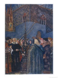 He Demonstrates His Telescope to the Nobles of Venice to Their Great Astonishment Gicleetryck av Evelyn Paul