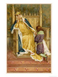 Lady Constance the Mother of Arthur Giclee Print by Walter Paget