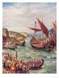 The Romans Leave England Giclee Print by Harry Payne