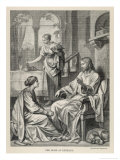 Jesus Talks with Mary While Martha Does Housework Giclée-tryk af Heinrich Hofmann