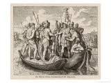 The Emperor Valens Makes a Treaty with the Visigoths Giclee-vedos tekijänä H. Leutemann