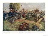 Bataille de Gettysburg Impression giclée par C.d. Graves