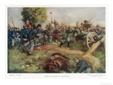 Battle of Gettysburg Giclee Print by C.d. Graves