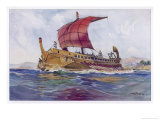 Light Fighting Ship from Classical Greece Giclee Print by Albert Sebille