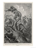 20,000 Leagues Under the Sea: The Squid Claims a Victim Giclée-tryk af  Hildebrand
